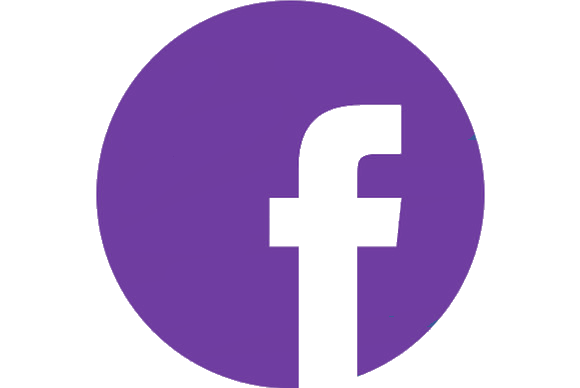 Facebook circle purple